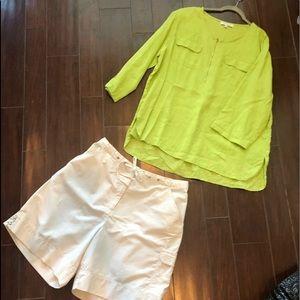 2 pc tunic & shorts Ellen Tracy + 20W Xxl